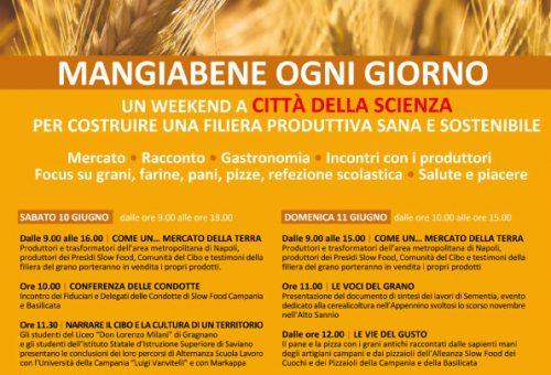 Mangiabene. Ogni giorno. Il 10 e 11 giugno Slow Food Campania a Città della Scienza