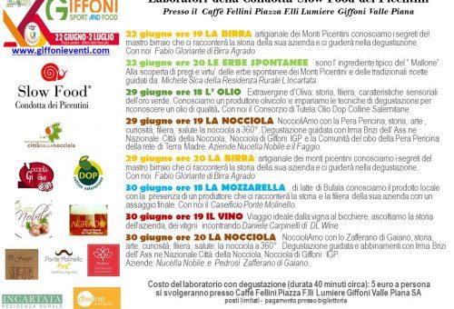 Laboratori con Slow Food Picentini a Giffoni Sport and Food e Premio Tonda d'Oro: partecipa anche tu!!!