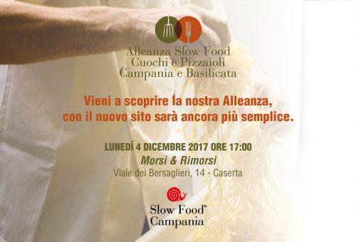 L'Alleanza Slow Food dei Cuochi e dei Pizzaioli della Campania e della Basilicata presenta il nuovo sito web