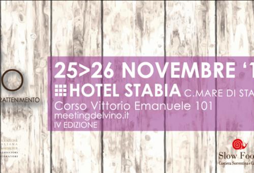 Slow Food al Meeting del Vino Campano 25 e 26 ottobre a Castellammare di Stabia