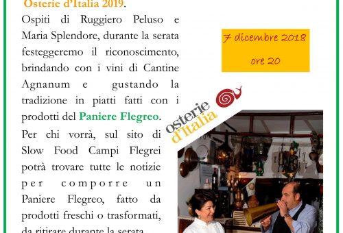 A tavola con Osterie d'Italia con Slow Food Campi Flegrei