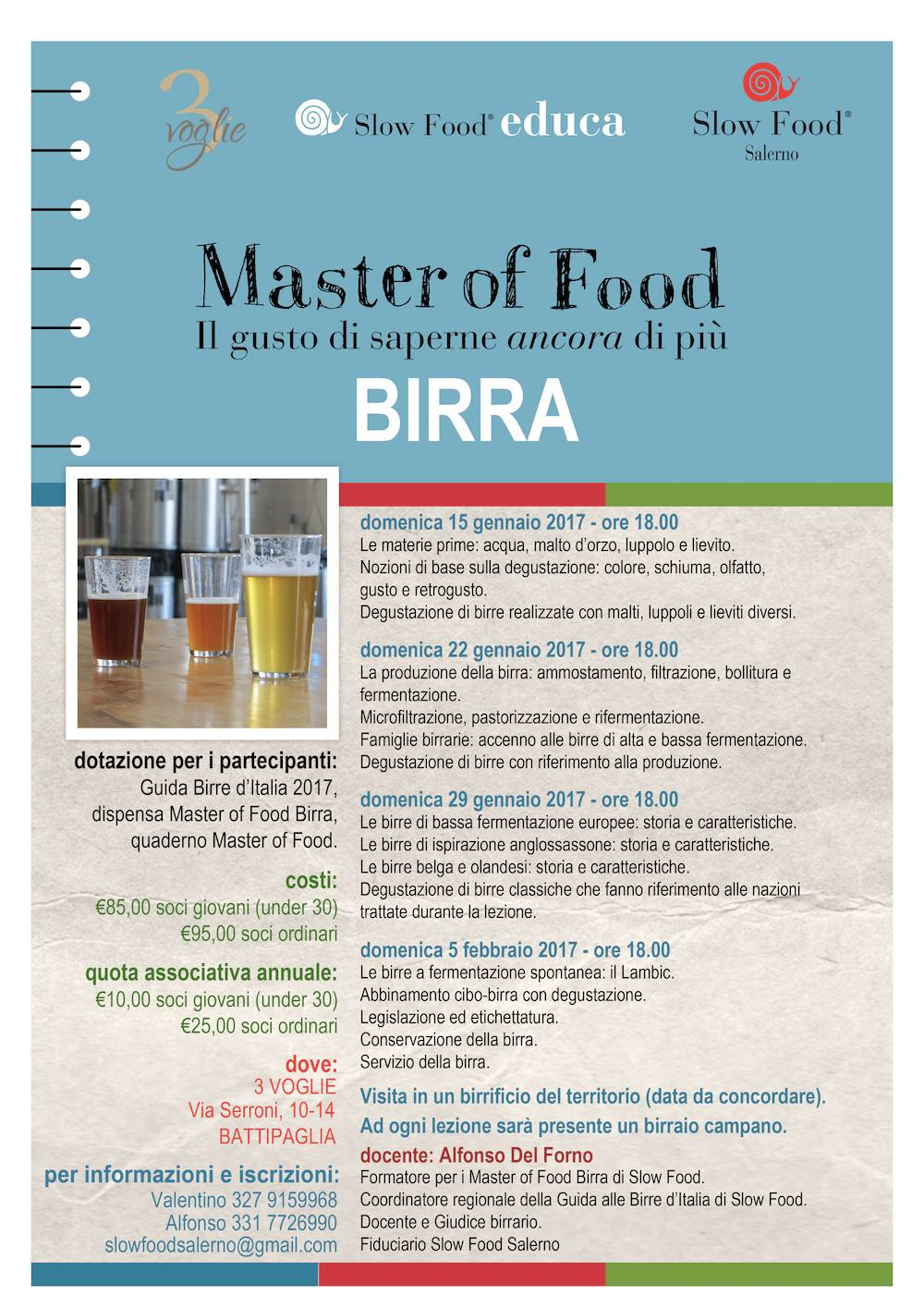 Master Vino e Birra a Salerno