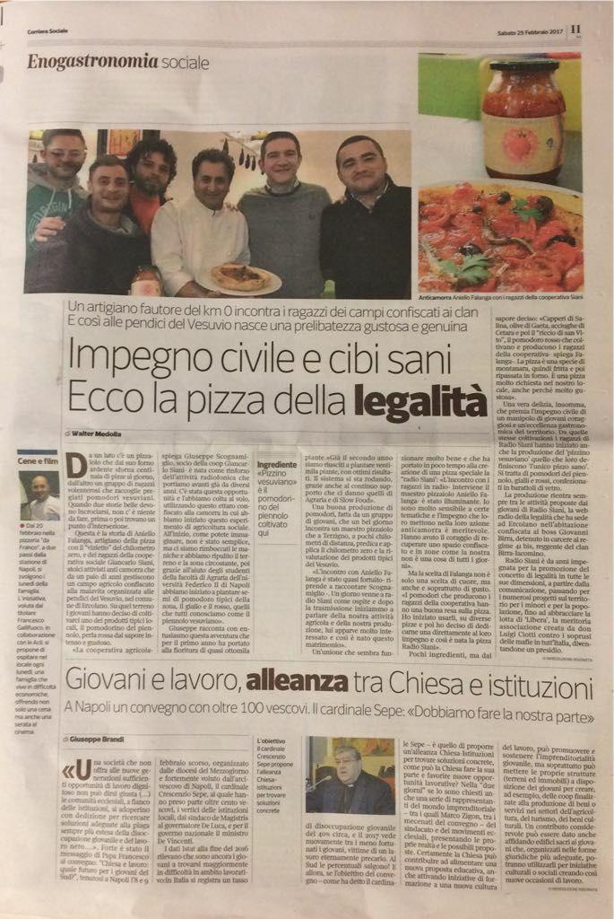 La Pizza Radio Siani dell'Haccademia sul Corriere del Mezzogiorno
