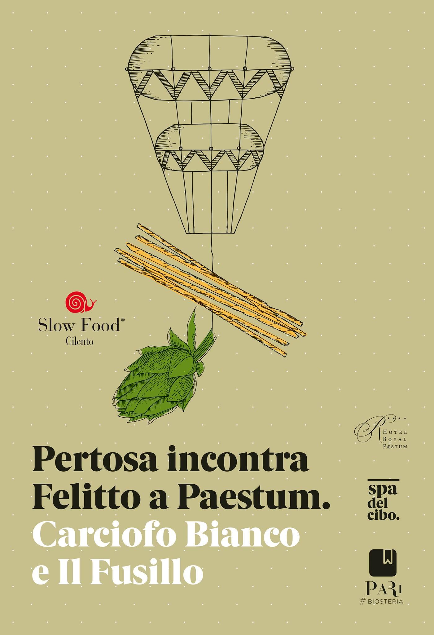 Il 25 aprile un pranzo a Paestum con Slow Food Cilento