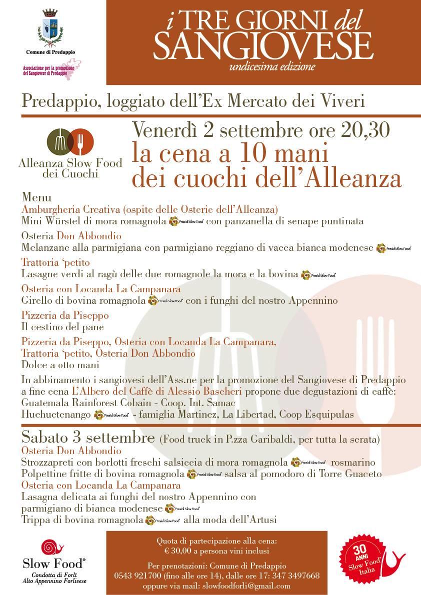 Slow Food Forlì : a settembre Cena dell'Alleanza dei cuochi