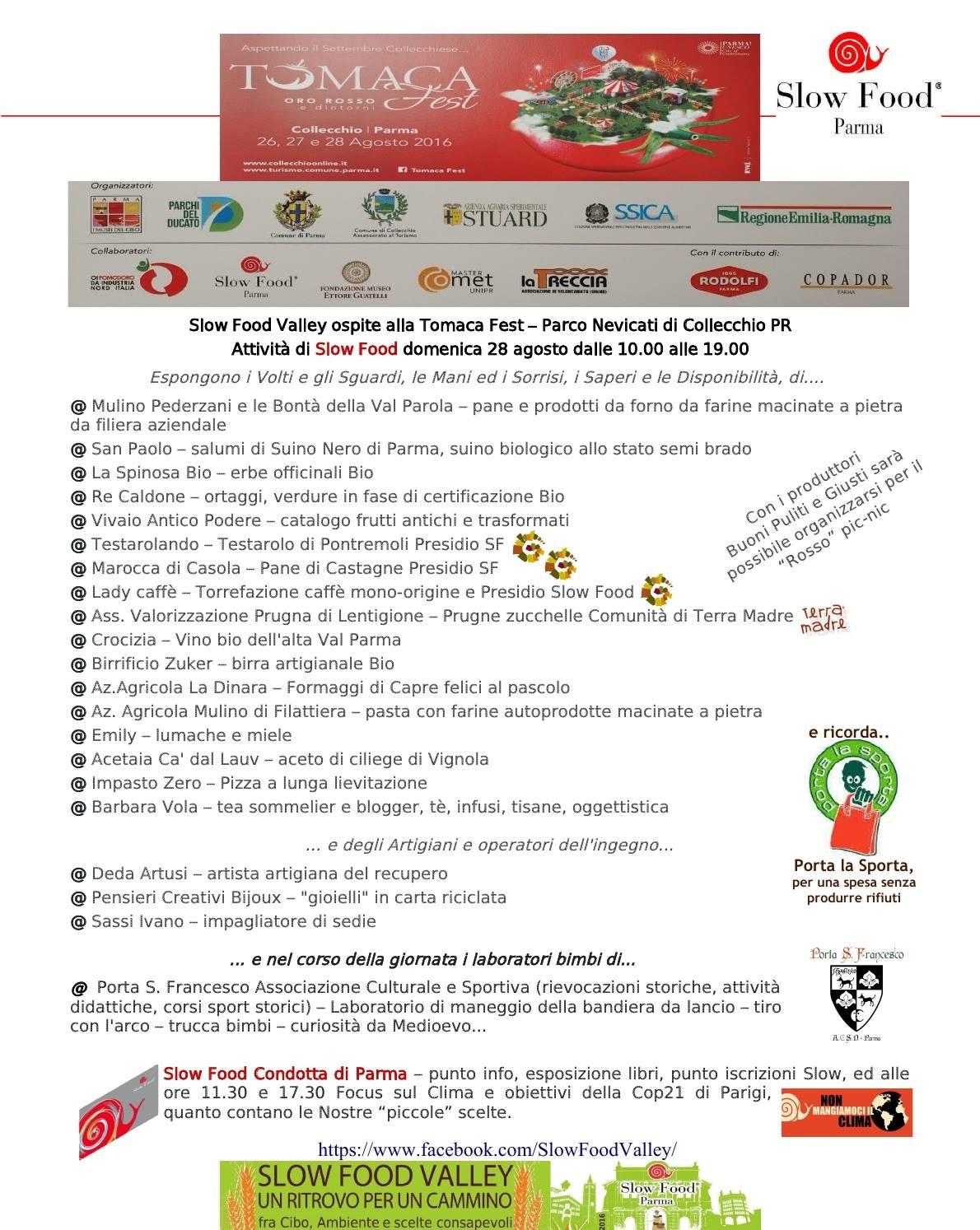 Slow Food Parma: continua Slow Food Valley