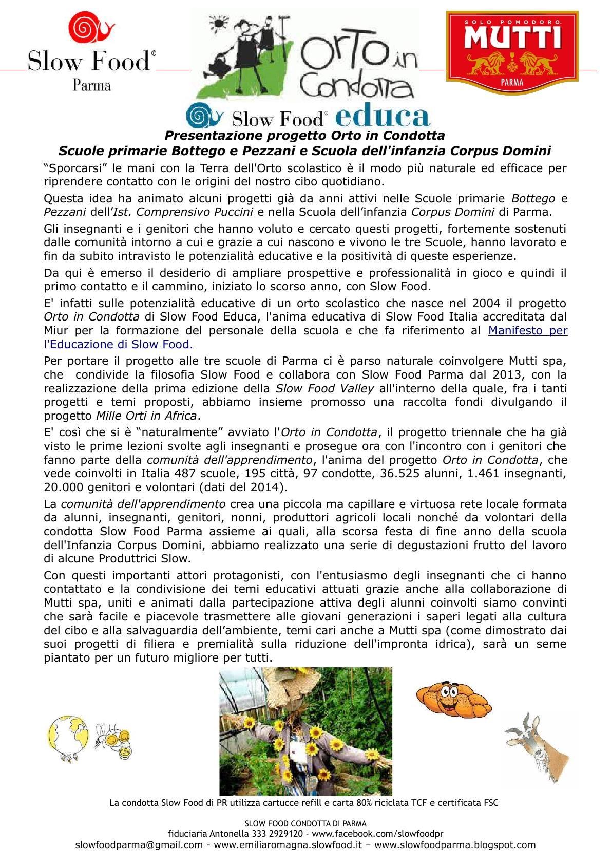 Slow Food Parma : partono gli Orti in Condotta!