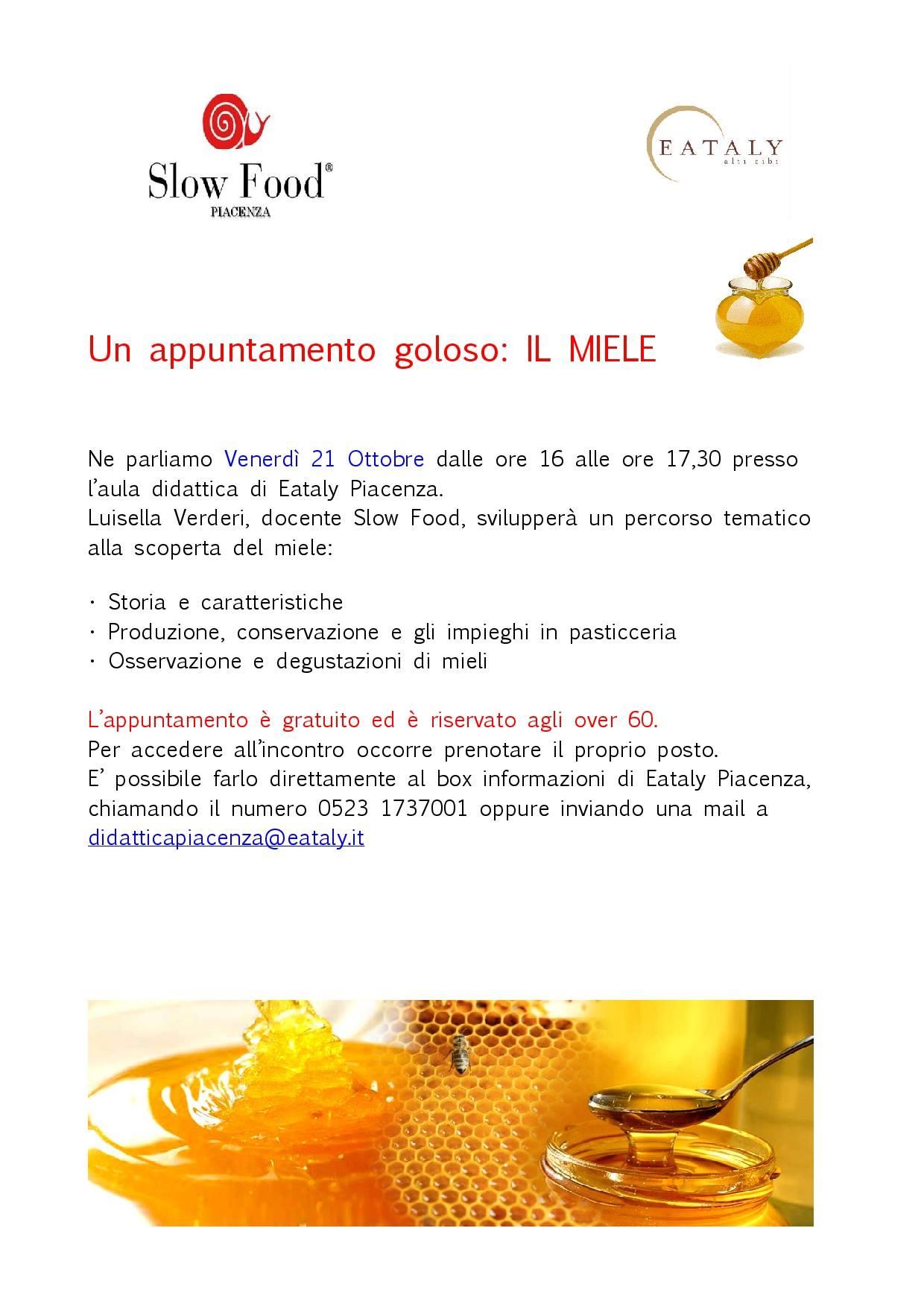 Slow Food Piacenza: alla scoperta del miele