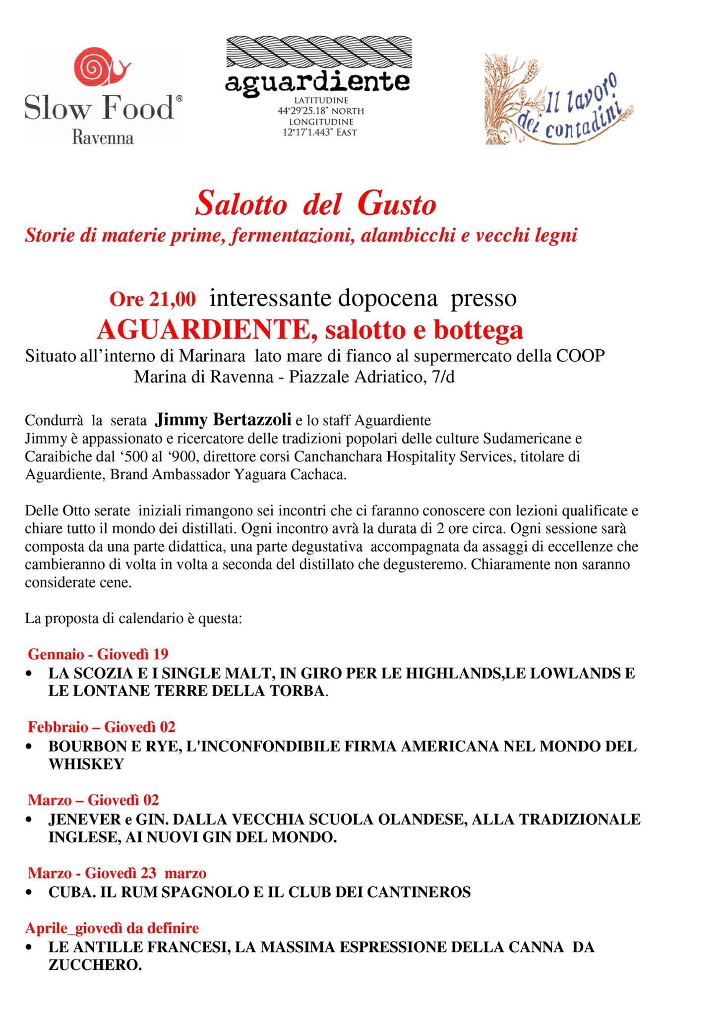 Slow Food Ravenna : idee per il dopocena