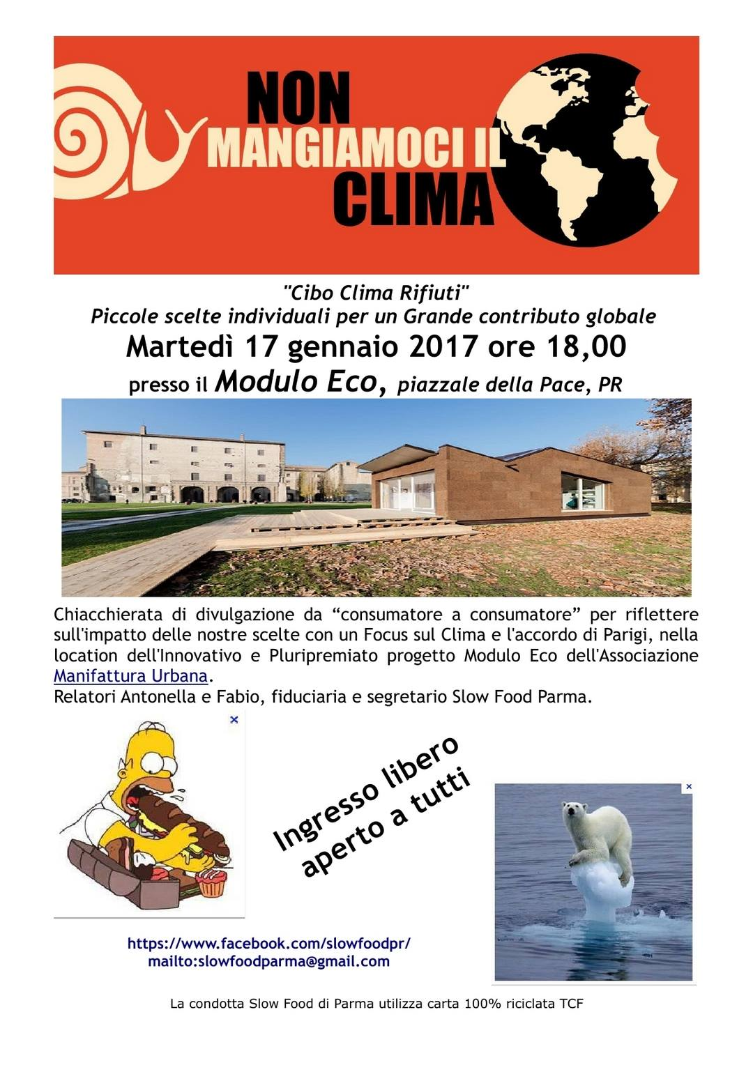 Slow Food Parma : non mangiamoci il clima