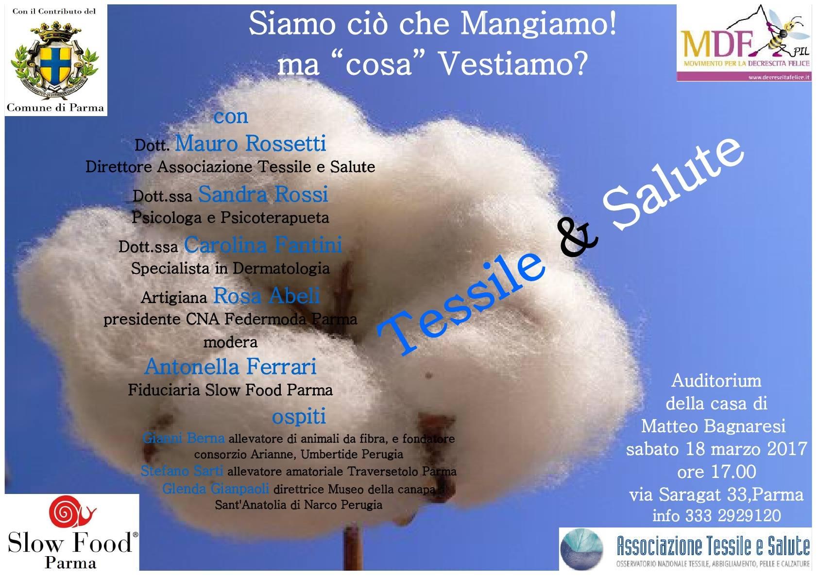 Slow Food Parma : tessile e salute