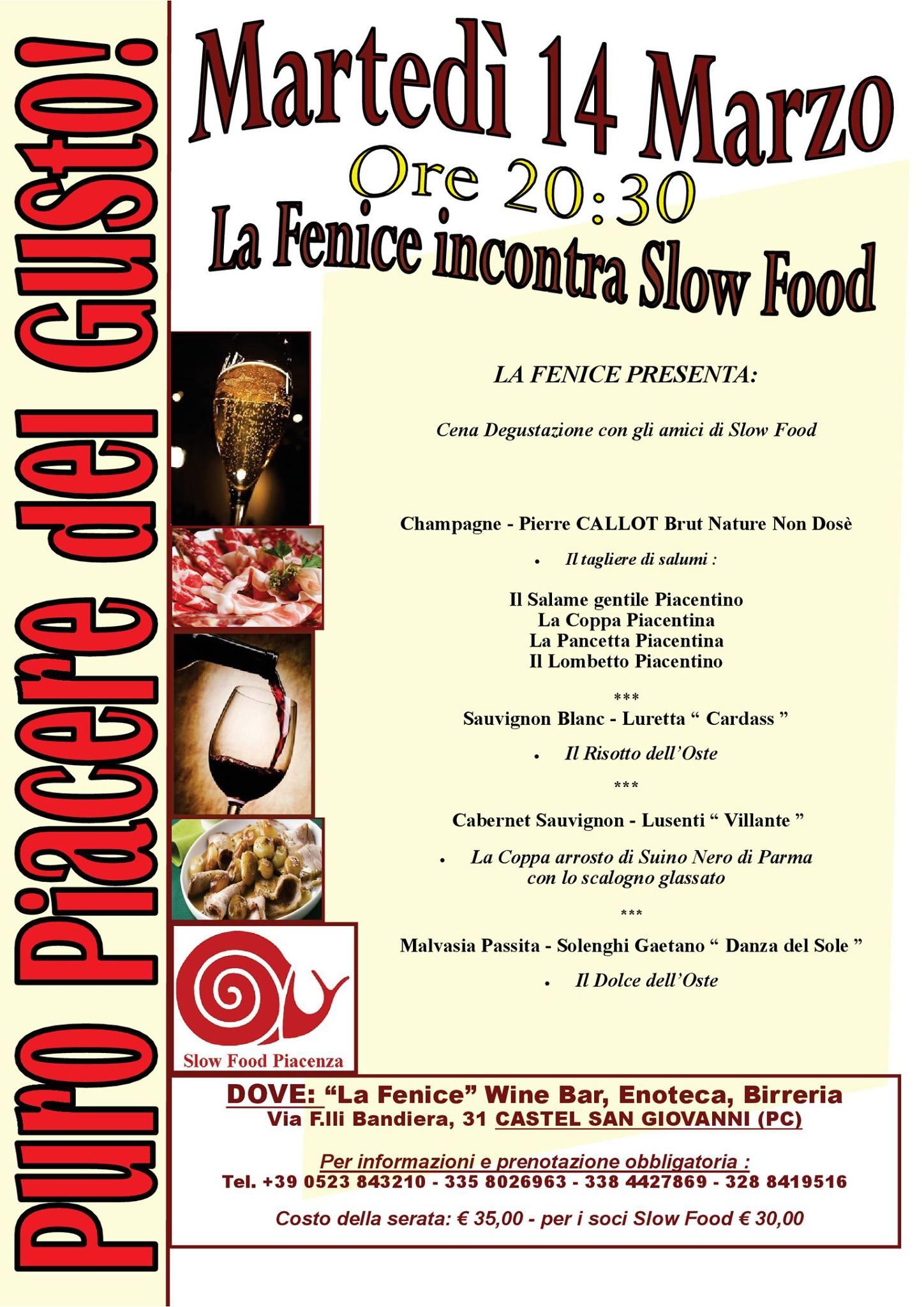 Slow Food Piacenza : incontri in Condotta