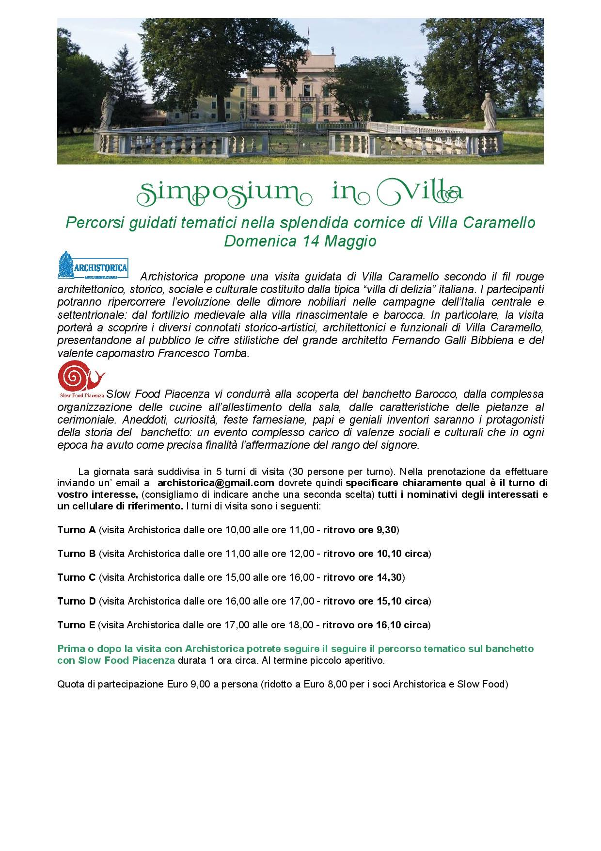 Slow Food Piacenza : symposium in villa