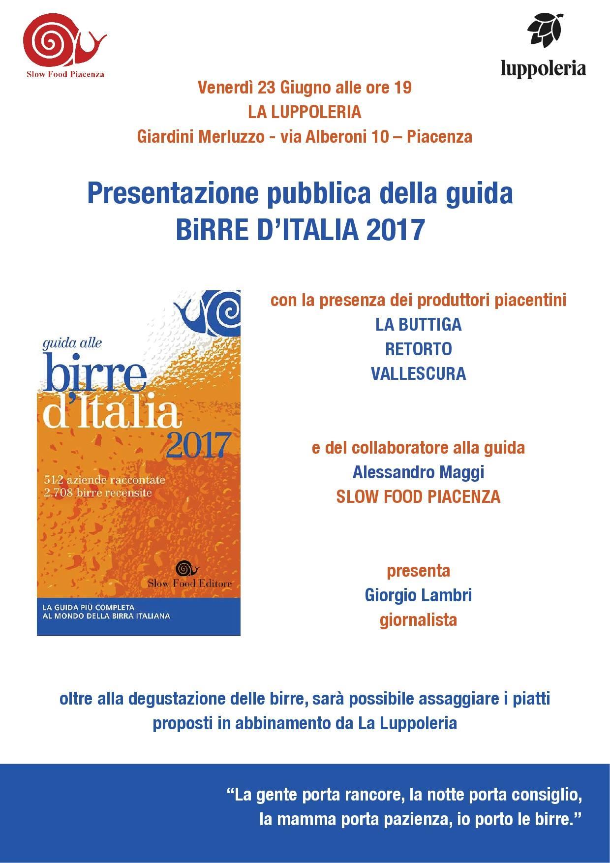 Slow Food Piacenza: la Guida delle birre