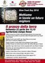 """Slow Food Forlì : il """"pranzo della terra"""" e il mercato  per lo Slow Food Day"""