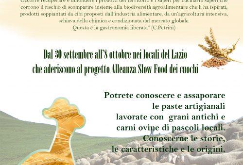 """Dal 30 settembre all'8 ottobre gustosi piatti con """"Pasta & Pastorizia"""""""