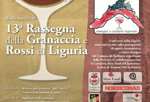 Granaccia e Rossi di Liguria a Quiliano Parco San Pietro in Carpignano