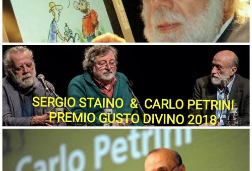 Carlo Petrini premiato al Tenco 2018 a Sanremo