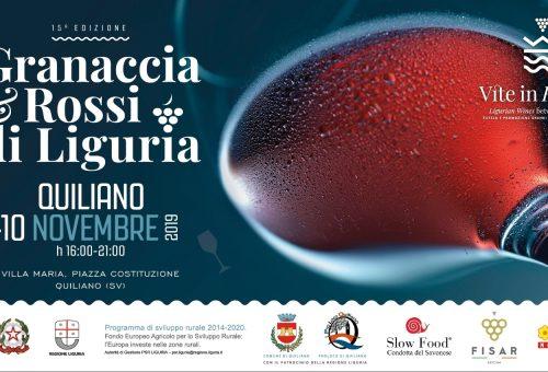 Granaccia & Rossi di Liguria 2019 a Quiliano 8- 9 -10 Novembre