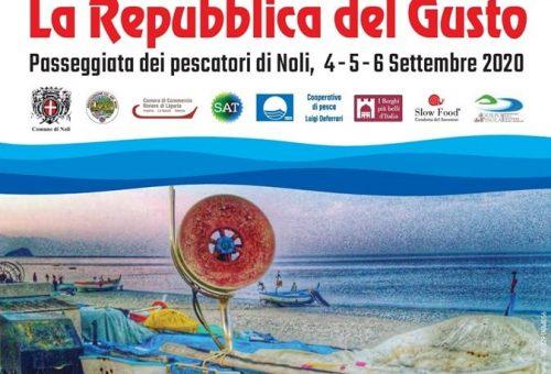 La Repubblica del Gusto – Noli 4 -5 -6 Settembre 2020