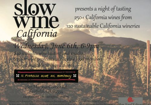 Slow Wine California presents a night of tasting!