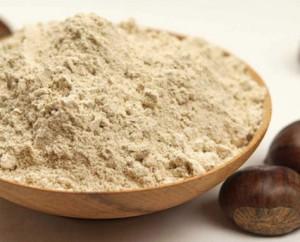 ciotola con farinad i castagne
