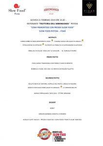 Slow Food Pistoia - cena piemontese con presidi