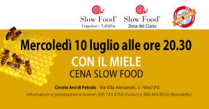 slow food emolese valdelsa - cena con il miele di mezz'estate