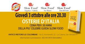 slow food - cena per le osterie