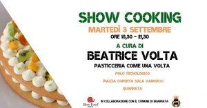 slow food pistoia - beatrice volta show cookiing di pasticceria