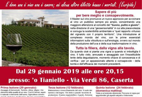 Parte il 29 gennaio il nuovo Master of Food sul vino di Slow Food Caserta