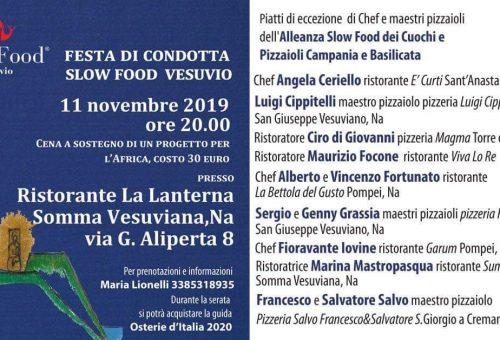 FESTA IN CONDOTTA con SLOW FOOD VESUVIO a LA LANTERNA DI SOMMA VESUVIANA