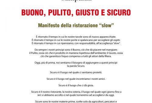 Manifesto della Ristorazione Slow – Buono Pulito Giusto e Sicuro