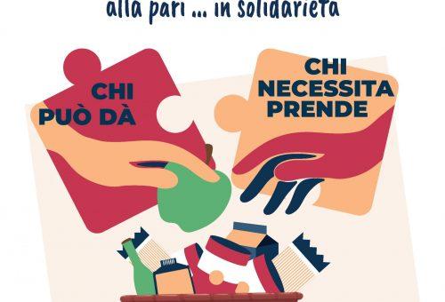 Una cesta di generi alimentari in tutta Italia per chi ha bisogno.