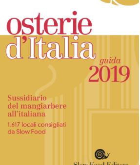 IL LAZIO NELLA GUIDA OSTERIE D'ITALIA 2019: Chiocciole,Formaggi e Bottiglie
