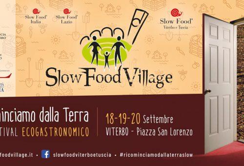 Dal 18 al 20 settembre torna a Viterbo lo Slow Food Village