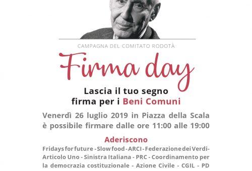 26 luglio Firma Day per i Beni Comuni