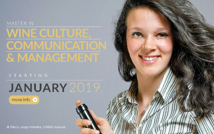 MASTER IN WINE CULTURE, COMMUNICATION & MANAGEMENT