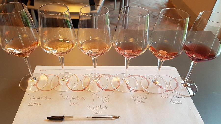 degustazione vini rosa