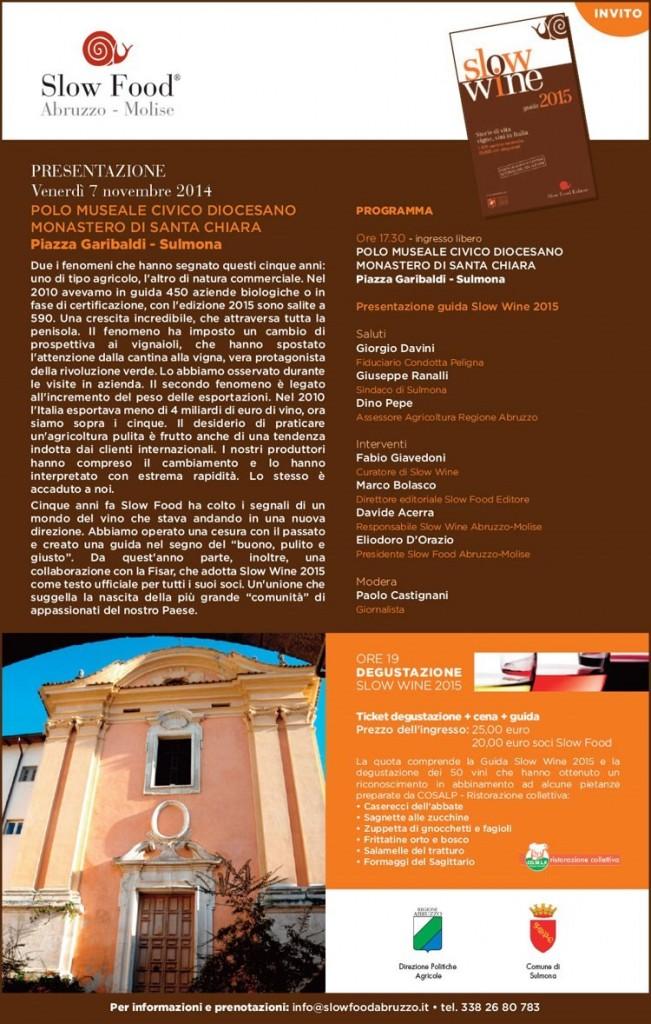 Presentazione Slow Wine 7-11-2014 SULMONA
