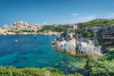 Sardinia: a bay in Capo Testa, near the village of Santa Teresa di Gallura, Italy