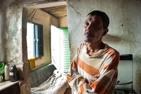 Três Corações-MG-08/07/2015-DanWatch- Coffee worker Francisco Paulo Pereira, retired because health problems caused by pesticides. Photo: Lilo Clareto/DanWatch
